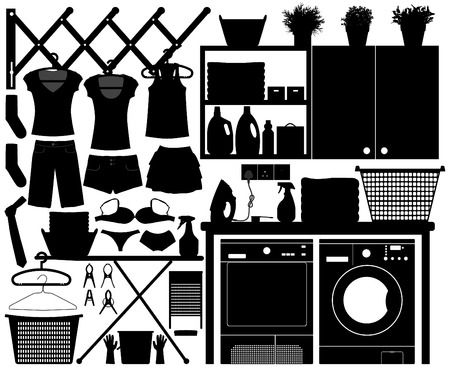 Laundry Design Set Vector