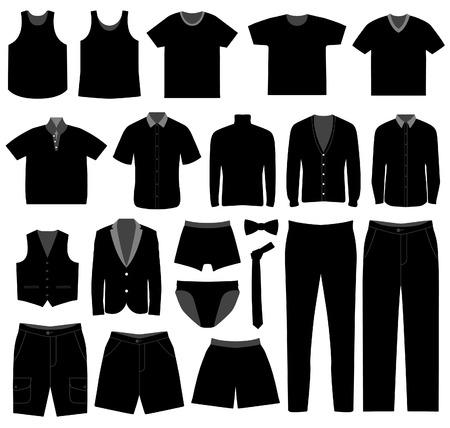 formalwear: Desgaste de camisa de tela de prendas de vestir masculino de hombres Man  Vectores