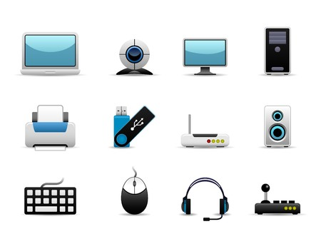 mouse pad: Computer Icon Set Vector