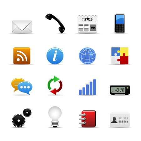 mobile application: Universal Icons Set Vector Illustration