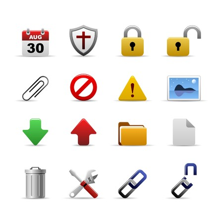 computer virus: Web Icons Set Vector