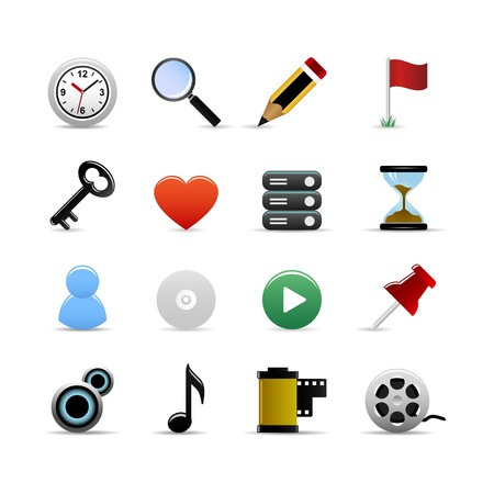 Universal Icons Set Vector Vector