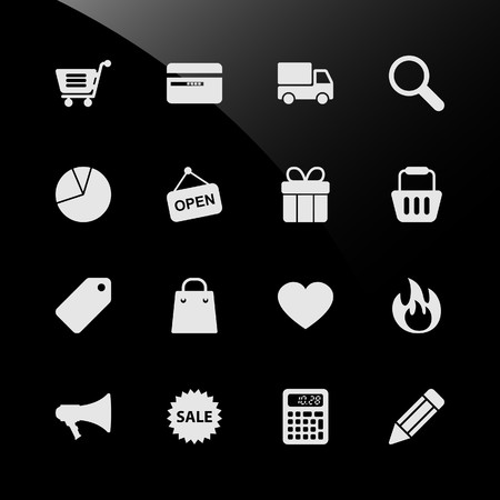 Ecommerce Shopping Web Icons Stock Vector - 7796628