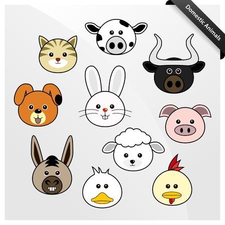 Domestic Animal Cute Cartoon Vector