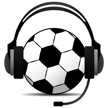 commentator: Football Soccer Podcast Vector
