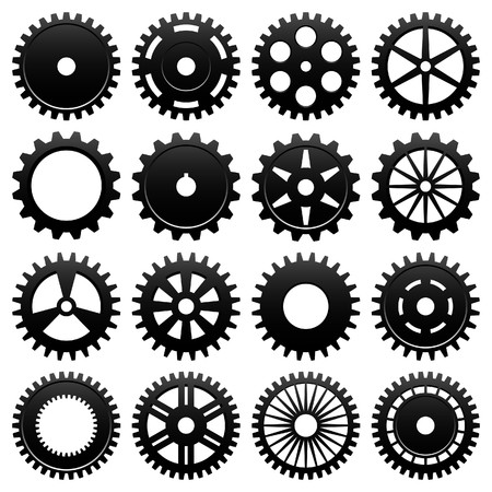 spinning wheel: Machine Gear Wheel Cogwheel Vector