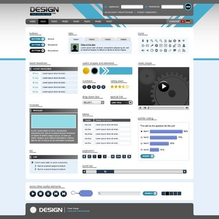 Web Design Elements 5 (Bright Theme)  Stock Vector - 7821808