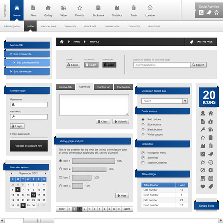 web side: Elemento Frame plantilla de dise�o de Web Vectores