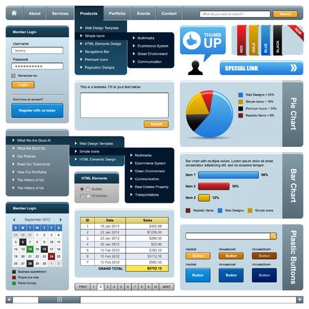 web side: Plantilla de marco de elemento de dise�o de Web
