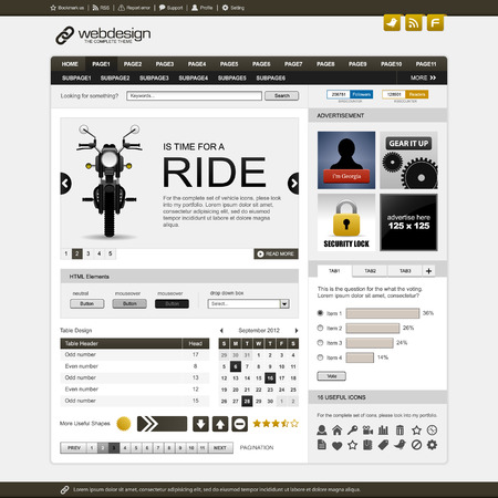 html: Web Website Element Design Template