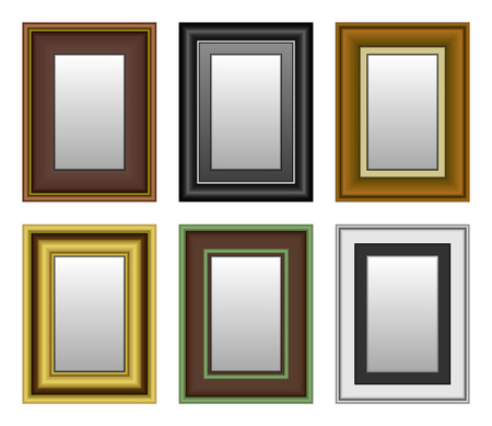 Frame Picture Photo Mirror Stock Vector - 8513520