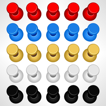 Pushpin Push Pins Colorful Vector Stock Vector - 8513553