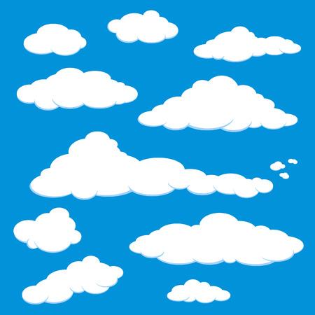 cartoon clouds: Vector de cielo azul de nube
