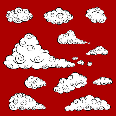 Cloud Oriental Cartoon Vector