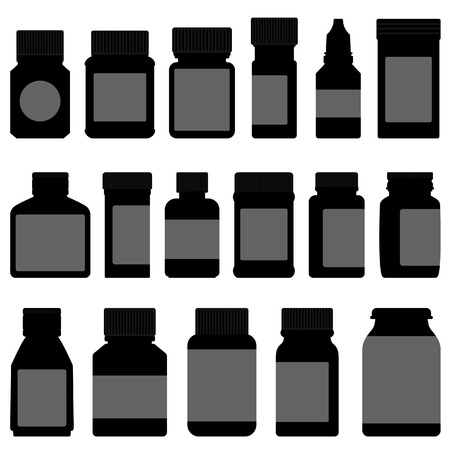 vitamins pills: Medicine Storage Container Bottle