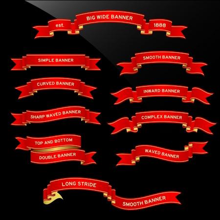 red ribbon: Banner Ribbon Scroll