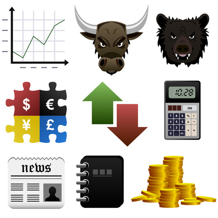 Stock Share Market Finance Money Icon Vector