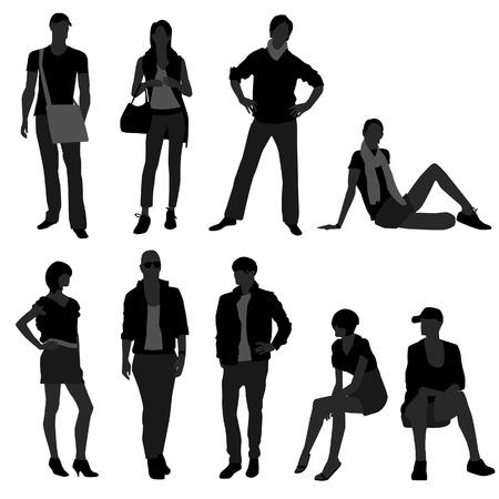 Man Male Woman Female Fashion Shopping Model