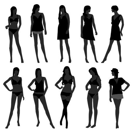 Woman Female Girl Fashion Lingerie Undies Underwear Bra Model Stock Vector - 8723511