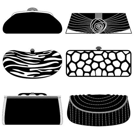 Mujer de moda femenina bolsa bolso monedero Ilustración de vector