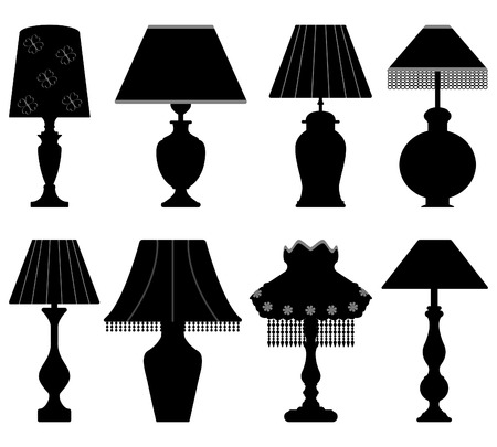 Table Lamp Light Black Vector