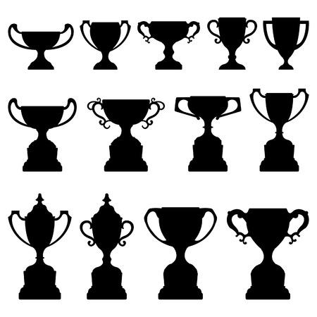 torneio: Trophy Cup Silhouette Preto Set