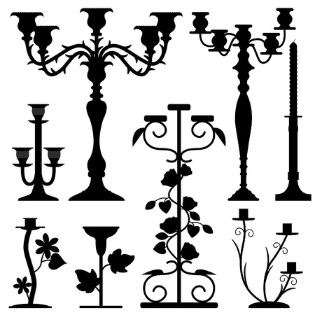 Candlestick Holder Home Interior Decoration Antique Old Ancient Design Stock Vector - 8723509