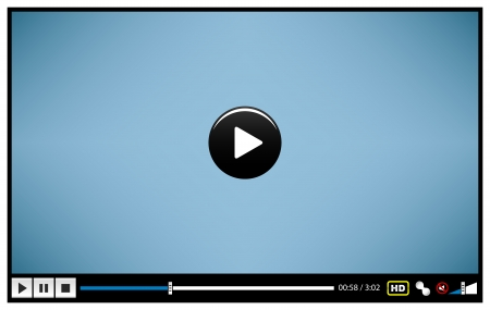 player buttons: Video Movie Media Player Illustration