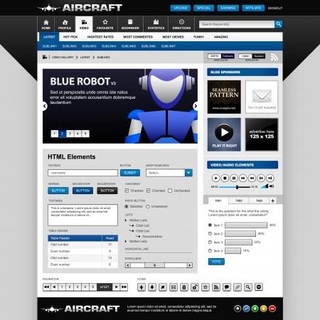 Web Design Elements Template Stock Vector - 8723522