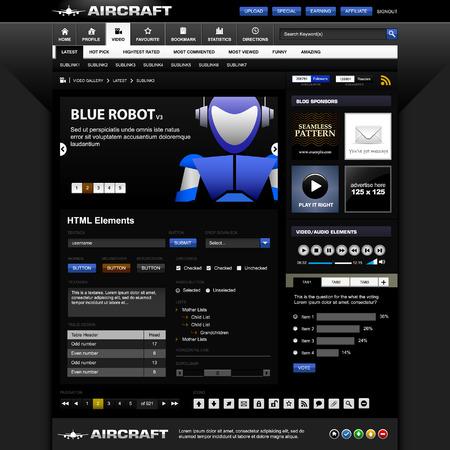 completato: Modello di elementi di Design Web