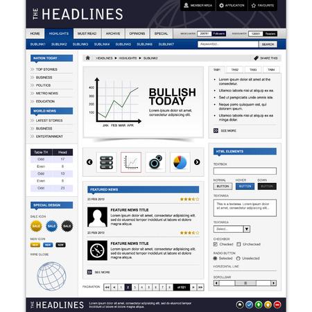 Web Website ontwerp Element sjabloon Vector Illustratie