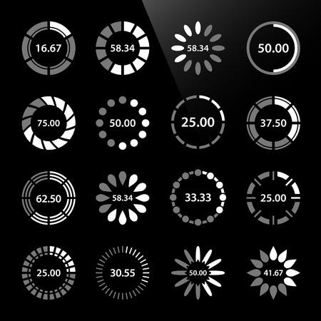 Preloader Progress Web Downloading Circle Illustration