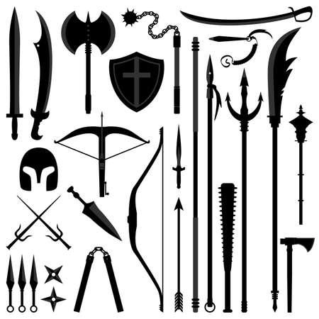 Ancient Weapon Tool Equipment Set Vector