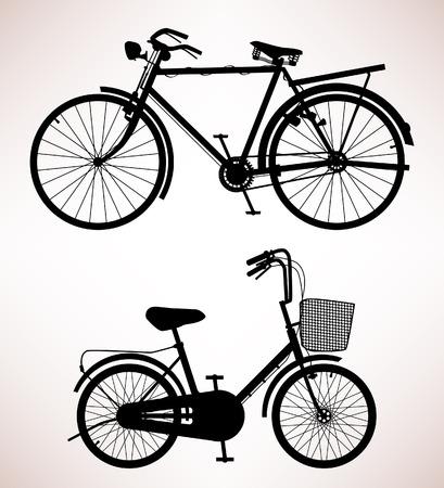 bicicleta retro: Detalle de bicicleta antigua Vectores