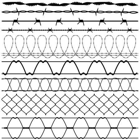 barbed wires: Barbwire de alambre de p�as de valla