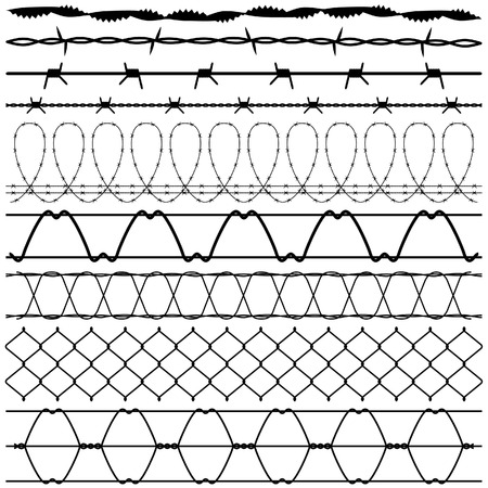 Fence Barbed Wire barbwire Vector