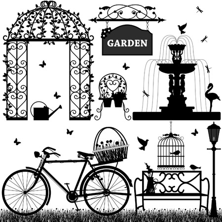 garden lamp: Garden Park Recreational Illustration