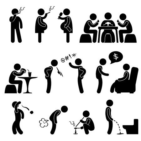 drogadiccion: Mal comportamiento incorrecto estilo de vida hábitos