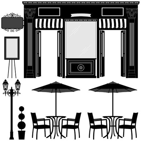 store window: Zakelijk Boutique Shop Store Stock Illustratie