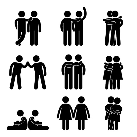 man holding sign: Relationship Icon Symbol Sign Pictogram