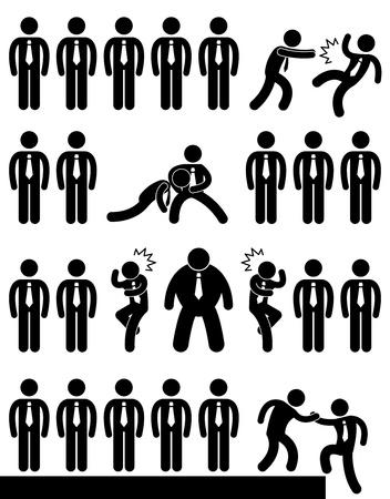personas ayudando: Oficina de Negocios de trabajo del empleado Situaci�n Pol�tica Escenario Concepto
