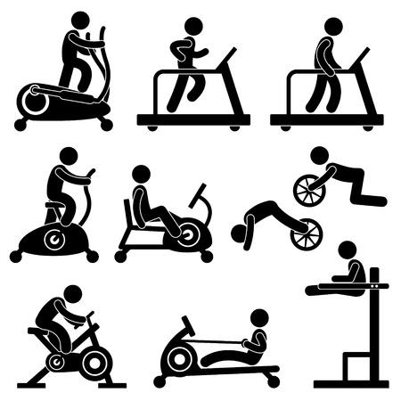 옥내의: 운동 체육관 체육관 피트니스 운동 교육 운동 일러스트