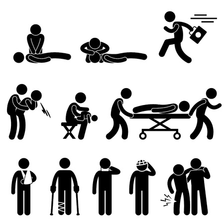 pictogram attention: First Aid Rescue Emergency Help CPR Medic Saving Life