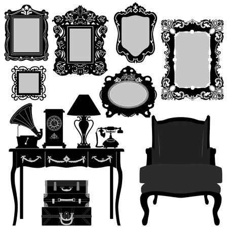 Antique Picture Frame Ornate Vintage Retro Museum Object Furniture Vector