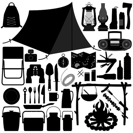 camp fire: Camping Picnic Recreational Tool
