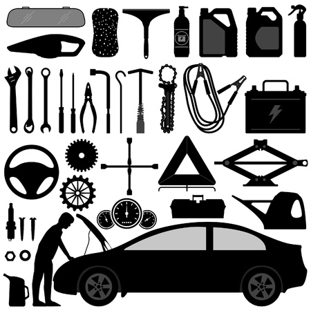 Car Auto Accessories Repair Tool Stock Vector - 18809680