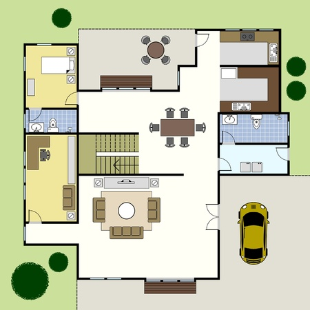 floorplan: Floorplan Architecture Plan House Illustration