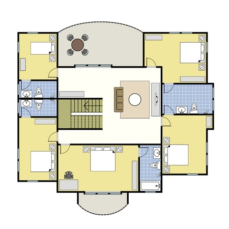 floorplan: First Second Floor Plan Floorplan House Home Building Architecture Blueprint Layout