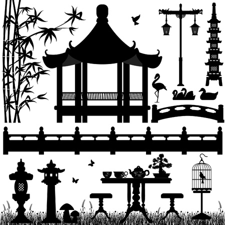 chinese pagoda: Garden Park Outdoor Recreational Asian Chinese Japanese