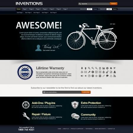 site web: Web Design elementi del modello